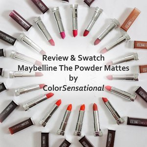 Hey kamoohhh para pecinta lipstik matte... Ini Ada lipstik  The Powder Mattes by ColorSensational dari @maybelline yang ga berat  Yang penasaran sama warnanya Baca yuuukkk  Udah lengkap dengan Swatch 19 shade Nya... ⬇⬇⬇⬇⬇⬇ #byeheavymatte #clozetteid  http://www.arifanuryani.com/2017/11/review-swatch-maybelline-powder-mattes-by.html