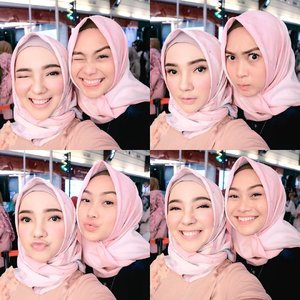 "My Geminian Sissy = Kembaran Akooh wkwkwk *ngarep* 😂 Pokoknya ngepens beudh dari jaman doeloe dari sebelum pake jilbab masih jaman"" blog belum kenal instagram 🙈💕 . . . . . . #indahnadapuspita #blogger #hijab #fashion #hijabfashion #clozetteid #gemini #girl #ayuindriatixvanilla #ayuindriati"