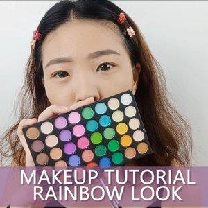 Tutorial ala ala Rainbow.. Lets get start it 💋 . Product details: Eyeshadow Palette ❤ @artistry_indonesia ❤ @nyxcosmetics_indonesia ❤ @makeuprevolution Eyeliner @youmakeups_id Lashes @artisanpro Softlens @x2softlens Lipstick @wardahbeauty Lip Gloss @mobcosmetic Blush + Highlight Magic Palette @inivindy  x @avionebeauty . . . . @cchannel_id @cchannel_beauty_id @bunnyneedsmakeup  @ragam_kecantikan @zonamakeup.id  @tampilcantik  @indobeautygram  @100daysofmakeup @inspirasi_cantikmu @tips__kecantikan @indovidgram . . . . . #luellaartistry #luellatutorial #rainbowmakeup #colorfulmakeup makeup #koreamakeuptutorial #makeuppemula #makeupremaja #makeupnatural #makeupramadhan #makeuplebaran #makeupnaturallebaran #makeuptransformation #tutorialmakeup #luellaartistry  #beautyvlogger #beautybloggerindonesia #beautybloggerbandung #beautyvloggerbandung #bandungbeautyblogger #bandungbeautyvlogger #clozzetebeauty  #Clozetteid