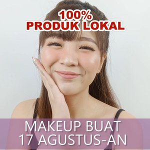 "Tools sampe produk makeup 100% LOCAL BRAND!!! . Boleh coba nih produk"" lokal yang rekomen buat bikin daily look! Siapa tau Agustus-an nanti dapet jodoh! Atau yang udah punya pacar dilamar! Who knows?? 😛 . Product details: @purbasarimakeupid Alas Bedak in Natural @youmakeups_id Concealer Stick + Eyeliener @qlcosmetic Brow Cream @viva.cosmetics Eyeshadow + Blush On @makeoverid Riche Glow Highlighter @pixycosmetics Lip Cream Rose Vintage . Lashes @blpbeauty Dainty Brush @haluu.essentials Beauty Blender @youmakeups_id . . . . . . . . . #luellaartistry #luellatutorial #17agustusmakeup #makeup17agustusan #hutri74  #facepaintingideas #artsymakeup #makeuppemula #makeupremaja #makeuptransformation #tutorialmakeup #beautyvlogger #beautybloggerindonesia #beautybloggerbandung #beautyvloggerbandung #bandungbeautyblogger #bandungbeautyvlogger #clozzetebeauty  #Clozetteid"