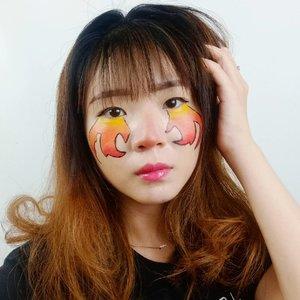 It's hard to resist it! Fire Eyes is cool filter 🔥🔥 #luellamakeup.Lagi nyobain recreate filter Instagram nih! Siapa tau bisa bakar kantong mata juga biar tetep kenceng yakaaan #ngaco 😂😂.Inspired Filter Fire Eyes buatan Kak @anggarahman ...#luellaartistry #clozetteid #makeupfilter #instagramfilters #firemakeup #cchannelfellas