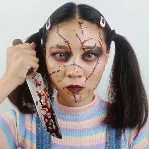 DAY 16 for #31daysofhalloween..Inspired Chucky Doll....#luellaartistry #luellamakeup  #chuckymakeup #chuckydoll #clozzetebeauty #clozetteid #halloween2019 #halloweenideas2019