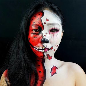 Let's keep halloween vibes!!.Inspired from pinterest........#luellamakeup #tampilcantik #halloweenmakeupideas #halloweenmakeup #bloodyhalloween #indobeautygram #bvloggerid #cchannelbeautyid #beautiesquad #clozetteid #clozzetebeauty #bloggerindonesia #bloggerindo #beautilosophy  #indobeautysquad #beautygoersid  #beautybloggerindonesia #bvloggerid #ragamkecantikan  #beautybloggerbandung #setterspace #bloggerbandung #muatribeid #kbbvmember #bloggermafia #bunnyneedsmakeup #kbbvfeatured