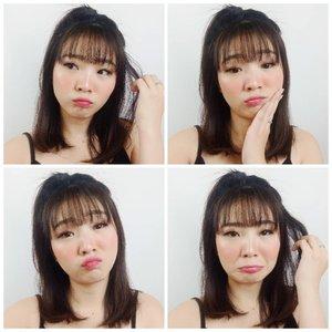 Dah lama gak post 2x2 photo collage!Feeling random on Sunday 😛......#luellaartistry #duckfaceselfie #clozzetebeauty #clozetteid #luellamakeup