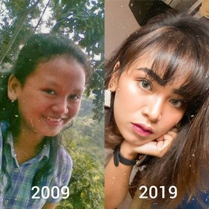Here I am for #tenyearschallenge #10yearchallenge what you guys think?........#clozetteID #wakeupandmakeup #indovidgram #bunnyneedsmakeup #beautybloggerindonesia #beautiesquad #charisceleb #tampilcantik #indobeautysquad