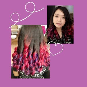 Closer look to my lovely hair ! Never regret to did this awesome ombre pinkypurple at @smoochbeautybar 💕💕 (just a little regret when I did the coloring at Thursday, while there was some discount at Friday huft but it's ok 😂🙈 )I swear i'll update about my experience at my blog, soo stay tune on www.widyalimited.com ! I'm so happy to share to u guys but please be patient xoxo love u gengs ! Promise, i'll up the blog post within first week on April !#widlimhairstory #smoochbeautybar #smoochbeautybarbandung #Clozetteid