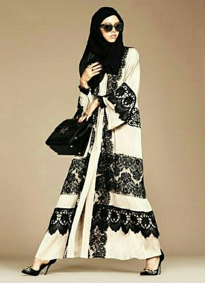 hijab outfit by dolce&gabbana