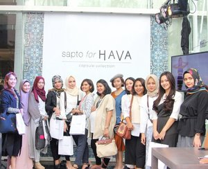 "With my fellow Clozetters in yesterday event ""Sapto for Hava"" . .  #ClozetteID #ClozetteIDXHava #HavaID #SaptoforHava . . #Clozetter"