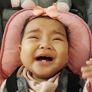 Saat Ibu memotret anak yang lagi ngerengek, demi mengabadikan dua gigi renggang yang lg tumbuh tumbuh gemes 🤣🤣🤣🤣🤣.Mohon maaf #AairaFahima adalah tipe bayi yg mesem2 kalau digodain, bukan nyengir kasih liat giginya bu ibu 🤣🤣🤣.Jadi harap maklum, kebiasaan emak yang dokter gigi anak 🤣.#ClozetteID #myfirsttooth #babytooth #gigianak #instababy