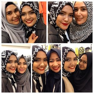 Finally got a chance to meet the pretty women behind the great design of @ranihatta_store @novierock_store @monelboutique @aline_clothingline @indij_official #nofilter #nofilterneeded #selfie #letmetakeaselfie #hijab #hijabfashion #ClozetteID #hijabers #debenhamsind #novierock #ranihatta #monel #indij #aline #hijabstyle