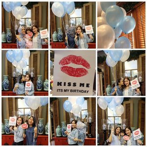 Happy birthday our dear @apsariindriyani many kisses and hugs from us. You know we love you💋💋💋 #birthday #party #blue #pandor #partydecor #bestfriend #mygirls #instagood #photooftheday #balloons #ClozetteID