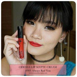 💋💄 Odessa Lip Matte Cream  Reviewnya ada di 👇 https://youtu.be/cpvN1j0FzbM  Atau baca di blog 👇 bit.ly/EB2-Luci  #BeautiesquadxEternallyBeauty #OdessaCosmetics #EternallyBeauty  #Beautiesquad #mattelove #BeautiesquadxEternally #ClozetteStar #ClozetteID #JogjaBloggirls #bvloggerid  #IndonesianBeautyBlogger #BloggerIndonesia