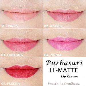 Lip swatch lengkap dari kelima warna Hi Matte Lip Cream dari @purbasari_indonesia  Warnanya cukup lengkap loh mulai dari nude sampai merah. Warna warna ini sudah dirancang khusus agar cocok dengan warna kulit wanita Indonesia. Gak ganya coverage dan pigmentasi tinggi, Purbasari Hi Matte Lip Cream juga mengandung UV Protectant loh agar bibir kita terlindung dr bahaya sinar UV.  Yuk cek review lengkap di blog aku. 💋💋 . . Thank you @sbybeautyblogger dan @purbasari_indonesia uda kasi kesempatan nyobain lip cream idaman. #Purbasari_HiMatte #PurbasariBeMatte #meetyourtruemate #SbybeautybloggerXPurbasari #SBBxPurbasariHiMatte #ClozetteID #beauty #makeup #makeupaddict #makeupjunkie #makeover #ClozetteID #beautyblogger #beauty  #indonesian #bblogger  #instamakeup #instabeauty #beautybloggerid #beautybloggersurabaya #surabayabeautyblogger #indonesiangirl #lipstickjunkie #lipstickhoarder