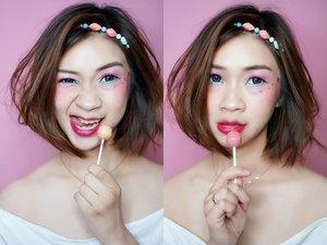You are what you eat, so eat something sweet 😘😘😘 Candy Makeup yang dibuat untuk join makeuo collab dengan para wanita hitz @kbbvbyacb  #shantyhuang #beautyblogger #beauty #blogger #koreanmakeup #sweet #candymakeup #selfie #clozetteid #clozettedaily #kbbvmember #kbbvcandycollab