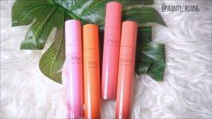 Hallo semua.. Racun baru lagi nich buat para pecinta lip tint, Pixy Get Ingked Lip Tint @pixycosmetics  hadir dengan 5 shades dan ini adalah swatch dari 4 Shades yang aku punya, bagus apa ga yach?  Buruan mampir ke channel youtube aku, udah aku review secara lengkap, link ada di bio https://youtu.be/in0JgCBEJ4c  #shantyhuang #beauty #beautyblogger #beautyvlogger #liptintpixy #pixygetinked #Clozetteid #Clozettedaily #instagood #instadaily
