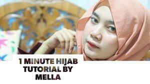 Alhamdulillah it's friday!.This is one minute hijab tutorial that I came up with. Easy peasy, tapi ttp terlihat chic dan simple. Cocok buat yg suka buru2 😌 hope you like it!.Intronya emg ga nyambung tp yaudahlah yaa~.#hijabtutorial #tutorialhijab #hijabtutorialbymella #clozetteid