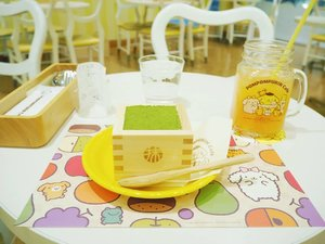 """""""Purin purin purin purin purin puririn.."""" selama stay di cafe ini theme song puririn diputar on repeat..Yes, I  had a fun moment during my visit to Pompompurin cafe, didn't plan to visit at first,  I was going round and about Harajuku, it was so cold and I got seperated from my company. So I decided in a whim to do a nearby-cafe-hopping to kill time while waiting for my friends. this is one of them. Glad to visit it,  such a feast for the eyes with it's cute interior..So I tried this current so called trending dessert,  Uji maccha tiramisu. It satisfied my matcha craving for sure..#clozetteid #mellatravelogue"""