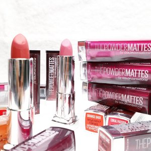 How many lipsticks do you have? 💄💄💄 . . #maybelline #lipstick #mattelipstick #beauty #ThePowderMattes #ByeHeavyMattes . . #clozetteid
