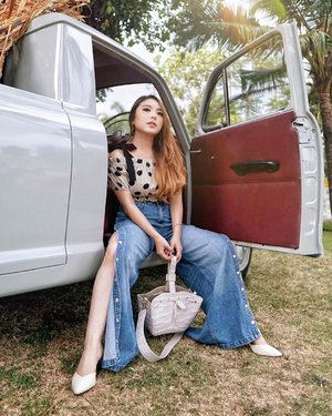 One day, when you least expect it, the great adventure will find you. For now, stick to the road and enjoy the journey.—Polkadot Top and Jeans from @pomelofashion F/W CollectionBag from @kimxlim.id 📸 @steviiewong #PriStyleDiaries......#whatiwore #portrait #nature #autumn #fall #chic #feminine #country #retro #vintage #womensfashion #fashionistas #vacation #summer #travelblogger #lotd #bloggerstyle #fashion #styleinspo #instastyle #blogger #styleblogger #fashionblogger #influencer #ootd #fashioninfluencer #style #outfit #clozetteid