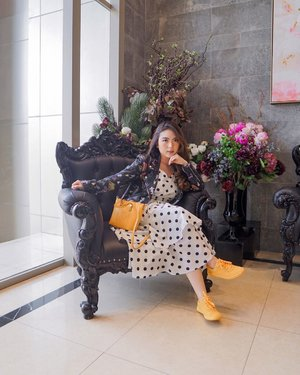 Thinking of when I can go out with my new outfits and show it off to people 🤔😜—Leather Jacket from @pomelofashion Polkadot Dress from @sorabelofficial Yellow Bag from @le.hoo.gaa Yellow Sneakers from @catfootwearindo 📸 @steviiewong #PriStyleDiaries.......#whatiwore #portrait #womensfashion #fashionistas #retro #fun #quirky #parisian #feminine #spring #elegant #parisienne #parisianstyle #travelblogger #lotd #bloggerstyle #fashion #styleinspo #instastyle #blogger #styleblogger #stylist #fashionblogger #influencer #ootd #fashioninfluencer #style #outfit #clozetteid