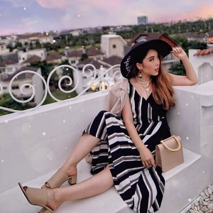 Chilling at the rooftop, whilst enjoying the sunset. 🌇 What a perfect way to enjoy the last day of this long weekend. Getting back to work tomorrow, let's have enough rest so we can be energized and productive! 💪🏻 — Earrings from @morningsun.id  Stripes Top & Skirt from @comavin  Nude Handbag @octav.official  Nude Mules @ganeganiandco ( Borrowing @yessieltrivena's 🙈 ) — 📸 @aawan.setiawan  #PriStyleDiaries . . . . . . . . . #whatiwore #womensfashion #tropical #fashionistas #summer #dreamy #nature #portrait #travelblogger #ootdinspiration #ootdbloggers #lotd  #fashionblog #bloggerstyle #fashion #wiwt #styleinspo #instastyle #ootdfashion #ootd #styleblogger #blogger #fashionblogger #fashionpeople #outfitoftheday #fashioninfluencer #style #outfit #clozetteid