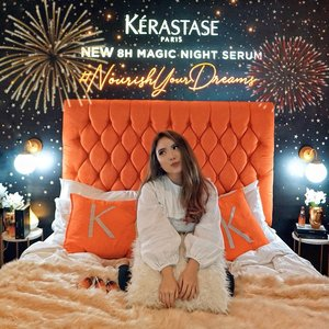 """It's the new Night Serum from @kerastase_official that I really like! This one will work wonders to your hair when you sleep, so you'll wake up with #HairGoals ���♀� Also got their Bain Anti Pelicullaire Shampoo for my scalp to control sebum and  to give a """"life� back to my colored hair. #NourishYourDreams—Thank you @shindyursula for introducing and for the photo 🧡.........#beauty #haircare #hair #bed #beautyblogger #beautiful #blog #makeupjunkie #treatment #skincare #beautyenthusiast #beautyinfluencer #makeuplook #beautyjunkie #blogger #influencer #lifestyle #makeup #beautytips #bloggerstyle #tampilcantik #fashionblogger #makeupreview #ulzzang #lifestyleblogger #fashioninfluencer #clozetteid"""