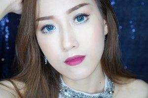 You've crossed and you knew it. 'I could be your best friend or your worst enemy.' ❄ ❄ softlens Ageha Lunatia Blue by @japansoftlens review soon on my blog! ❄ my current favorite natural looking lashes from @florinlash 💕  #openendorse #jessieads #clozetteid #makeup