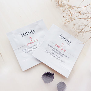 IOMA — 2 energize Flash Youth Eye Contour Concentrate - IOMA Flash Youth Eye Contour Concentrate is a treatment that affects the totality of the eye contour area, taking action against dark circles, puffiness, and slackening eyelids. Your eyes defy time 👌🏻 . 2 Youthful Moisture - Warm the IOMA Youthful Moisture Day and Night Cream in the palm of your hand and apply it, morning and evening, to perfectly cleaned skin. - Full active ingredients Very light and creamy Intensely moisturizes Prevents fine lines and first wrinkles 🌻 . . . #clozetteid  #ioma  #blogger  #bloggerindo  #influencer  #skincare  #skincareroutine  #뷰티블로거 #대한민국 #서울 #제주 #유행 #라이프스타일 #구성하다