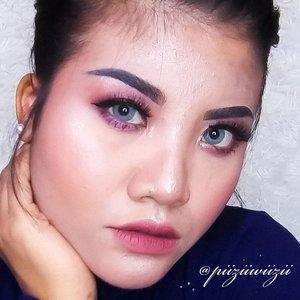 . Sakit Leher . . . . . . @x2softlens X2 Glam Tourmaline #clozetteid #beauty #makeup #motd