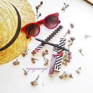 . Summer Ready!!!! . Yuhuuuu eyeliner pencil kesekian milik aku dari Mizzu. Gak oernah kecewa dengan pensilnya. . Dan lipen pertamaku dari Mizzu. Detail masing2 item nyusul ya.. . . . Tencu  @mizzucosmetics  @bandungbeautyvlogger . #bandungbeautyvlogger #1stgatheringbbv . #clozetteid #beauty #summer #makeup #motd #mood