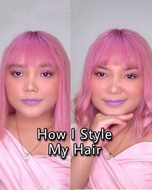 Cara aku keriting rambut pake flat iron 💖  Semoga bisa bermanfaat dan mengisi waktu luang kamu yang #dirumahaja . . .  Ps : aku ingin bawa rambut pink ku ke mal :( . .  #lidyamakeup #hairstyle #pinkhair #hairvideo #clozetteid #indobeautysquad #beauty #quarantine #tampilcantik