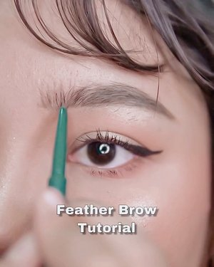 Feather brow tutorial .  Product used : @luxcrime_id Slim Triangle Precision shade Brown . . .  #motd #makeup #lidyamakeup #beauty #indobeautysquad #beautyenthusiast #makeuptutorial #makeupvideos #videomakeup #clozetteid #makeupoftheday #tutorialalis #featherbrows