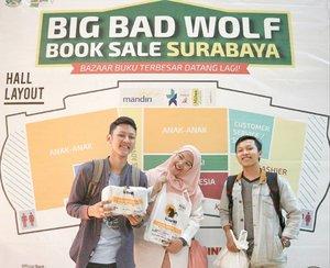 Yeaayy ! BAZAAR BUKU TERBESAR DATANG LAGII !!! Sudah siap menyambut kedatangan Serigala di Surabaya ? Yuk datang ke @bbwbooks_id yang mulai dibuka umum tanggal 27 Sept.. Jangan lupa ! 27 sept - 08 Oktober 2018. Ajak teman, pacar, gebetan, selingkuhan.. ajak semua biar rame ! _ Ohiya buat yang penasaran gimana sih kondisi dalam bazaar? Tunggu besok akan saya update di Blog 😙 _ Terimakasih buat Kakak @budi_st.one dan kakak @tikno_24 sudah mau nemenin Depik ! 😁  _____ #clozetteid #photodiBBW #bbwsby2018 #bigbadwolf #bbw2018