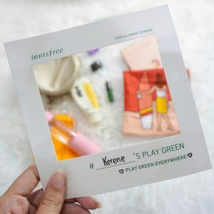 So this is how i #playgreen ! [ Kerene's Play Green 💚🌿 ] - You can swipe left for details,  The main core of my #playgreen is using eco-friendly products especially skin care! Fyi, i have already used Innisfree products long before it has official stores in Indo. I love all the formula, packaging and most importantly the reusable bag that they provide everytime we purchase something ( so thoughtful). My current fav is green tea seed serum 👍  Most of the times, especially when i go to campus i bring my bottle of water to keep me hydrated and reduce the usage of plastic bottle. Despite of those things, i always try not to get the plastic bag from store esp when i don't buy more than 2/3 products ( sometimes i also bring reusable goodie bag or keep it inside my bag)  Oh wait on daily basis, id rather use eyeglasses than softlens cus it lasts longer ( is this also counted as play green? lol 😁) . And last but not leastttt, as i've got this super cute Eco Hankie #ecohankie handkerchief on me from Innisfree as a gift, i would also love to start using it and reduce the usage of tissue paper for wiping my face and hands after cleansing. I guess that's all! 🙌😚 #innisfree #greentea #clozetteid #ecofriendly #eco #clozetteid #skincare #skincarejunkie #skincarehoarder #skincare #koreanskincare #korea