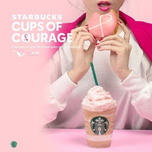 Let's have a bite of Pink Doughnut and Double Pink Coffee Frappuccino!Btw, please come to @starbucksindonesia for this Pink Beverage tomorrow. And TRY 4 minuman ini dengan harga bersahabat and let me know kalian suka yang mana yaa.... #sbuxcupsofcourage #starbucks #starbucksid #clozetteid #pinkbeverage
