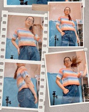 Selamat hari senin gaes 🙃 featuring muka lelah abis ngepel 🤨😝 . . . #gorgeouspellbywindana #ootd #ootddirumahaja #restbicthface #clozetteid