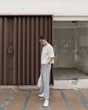 like 180cm tall with strip pants ✨ @shopatvelvet