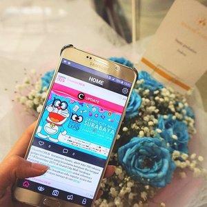 Buka app @clozetteid, bisa tau info2 menarik sambil nunggu wisuda Binus selesai. 😊😊 #clozetteid #ClozetteMobileApp #wisuda53 #binus #binusian #graduation #rose #bluerose #doraemon #doraemonexpo #starclozetter #blue #happygraduation #bouquet #application