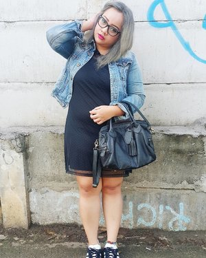 """When you feel that you're """"The Most"""" in everything, then actually you're nothing than anything.  #instago #instastyle #streetsyle #ootdid #ootd #clozetteid #dailylook #taskulitlokal #littleblackdress #like4like #ootdbigsize #GreyHair #grannyhair"""