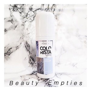 TODAY on Pudding Monster : Beauty Empties ! Reviewing a lot of beauty products including this colorista spray ! Find out more in my blog { link in bio }