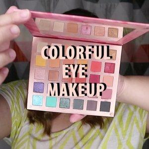 Colorful Makeup Tutorial 🌈.Makeup ini yang aku buat waktu lalu untuk collab bareng @beautiesquad ! .Seneng banget nih main eyeshadow warna - warni gini 🥰..🌈 Focallure Endless Possibilities 🌈 @sleekmakeup eyeshadow palette🌈 Cmaadu Eyeliner🌈 @blinkcharm Fake Lashes 🌈 @lookecosmetics Lipgloss ........ .#reginapittutorial#reginapitcom #bvlogger #bvloggerid #indobeautygram #Clozetteid #bloggermafia #sbybeautyblogger  #beautiesquad  #indovidgram #indovlogger  #beautybloggerindonesia #heartmakeup #pinterestmakeup #colorfulmakeup