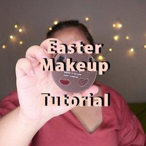 Dengan judul Easter Makeup 🌺.Padahal easternya udah lewat hahaha. Yawes, pakai aja makeuo ini kemanapun kamu mau. Gampang banget dan cocok buat segala acara dan warna baju 😘..🌈 @pixycosmetics Cushion🌈 @mizzucosmetics Concealer🌈 @altheakorea Concealer🌈 @easypeasy_cosmetics @hicharis_official Blush🌈 @viva.cosmetics Perfect Powder🌈 @essence_cosmetics Hey Cheeks Palette🌈 @maybelline The Blush Nudes Palette🌈 Catrice Lipcream ...#reginapittutorial#reginapitcom #bvlogger #bvloggerid #indobeautygram #Clozetteid  #indonesiababe  #sbybeautyblogger  #beautiesquad #IVGBeauty #indovidgram #indovlogger #setterspace #kbbvfeatured #beautybloggerindonesia