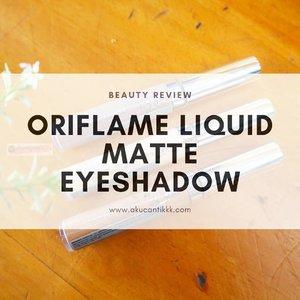 NEW POST IS UP 🚀Review & Swatch @id.oriflame LIQUID MATTE EYESHADOW ...Tidaq geser,tahan air,sangat long lasting,but why variant warnanya sangat limited 😆...Cocok untuk yang mau dandan cepet dan nggak suka ribet ngblend eyeshadowSuit for daily basis and office look. ...Go check them out on my blog www.akucantikkk.com...#BaliBeautyBlogger #oriflameid #liquideeyeshadow #eyeshadoworiflame #clozetteid#beautywithknowledge#reviewbyakucantikkk