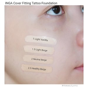 INGA COVER FITTING TATTOO FOUNDATION.Never have I thought Korean foundation would have a medium to full coverage until i found this Inga Cover Fitting Tattoo Foundation. By spotting the word tattoo, i knew this'd b crazy in term of coverage. And yes, i was utterly amazed that it actually does what it claims -- it covers dark circles, marks, my spider veins really sufficiently. I dont think you still need concealer when using this foundation.The finish is semi-matte, that being said it is good for people with combination to oily skin . It sets pretty quick so make sure you blend it quick as well. Despite its creamy texture, it doesnt feel cakey to wear throughout the day. Make sure to put a little amount first because a little goes really looong way. It started to look patchy on my nose area after 4 hours.The drawback is on the shade options, it only comes in 4 shades and it's all in the fair-light ranges. I honestly am still confused which one matches my skintone the most 😂  but i ended up with shade 02.Overall, if you are on the look out for a great coverage foundation go get this one as it is thaaaat covering 👌👌 .I ve put the link in my biohttps://hicharis.net/thebeautywimp/e6b.#INGA #coverfittingtattoofoundation #tattoofoundation #foundation #charis #charisceleb @hicharis_offical @charis_celeb
