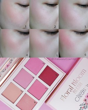 BEAUTY CREATIONS FLORAL BLOOM BLUSH PALETTE @beautycreations.cosmetics i hope you are able to see the difference on each shades, ada yg shimmer dan glitter-y dikit juga. Aslinya lebih shantique2, warnanya subtle & buildable. Ini aku apply with fingers, biar lebih keliatan aja warnanya ya  Bisa kalian beli di @ivabeaute.id  Shoppe BEAUTYCALLINDO . . . . #fakeupfix #makeupforbarbies #beautygram #makeupblogger #eyetutorial  #eyeshadowtutorial #beautycreations  #peachyqueenblog #clozzeteid #bretmanvanity #bkushpalette #beautygram #clozetteid #instamakeup #undiscovered_muas #beautycommunity  #wakeupandmakeup #fiercesociety #blushhoarder  #hypnaughtymakeup #makeupinspiration  #sigmabeauty #flawlesssdolls . .