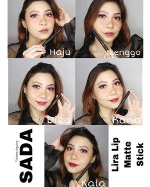 𝐒𝐀𝐃𝐀 𝐋𝐢𝐫𝐚 𝐋𝐢𝐩 𝐌𝐚𝐭𝐭𝐞 𝐒𝐭𝐢𝐜𝐤  Senang sekali bisa nyobain new launched @sadabycathysharon Lira Lip Matte Stick  Formula nya lembut dan glides on smoothly--ga nyeret gt lo waktu diaplikasikan. Pilihan Warna nya juga super cantik2 ❤️ . . . .  #beautygoersid #instamakeup  #makeuptutorial  #beautyenthusiast  #100daymakeupchallenge #makeupfeed #unleashyourinnerartist #creativemakeup  #makeuptutorial @setterspace @tampilcantik  @cchanel_beauty_id @tips_kecantikan  @popbela_com  #makeuplooks #wakeupandmakeup #clozzeteid #sigmabrush #clozetteid #slave2beauty #wake2slay #eyeshadowtutorial  #amrezyshoutouts #undiscovered_muas #inssta_makeup #makeupaddict #featuremuas #morphebabe #beautyunderyourinfluencer