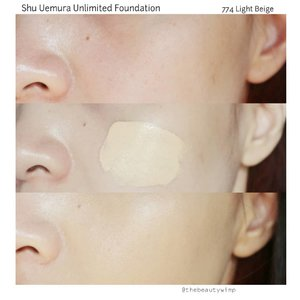 SHU UEMURA UNLIMITED FOUNDATION(2/2).I have used this for several times before coming up with the review and at first, i was quite fearful it wont match my skin type (i have dry skin). To my surprise, it turns out great even i dont use a hydrating primer. Coverage is medium to full and really buildable, you can check out my quick demo on my next post (which will be uploaded later today)..#fakeupfix #makeupforbarbies2 #shuuemura  #shuuemuraid #unlimitedfoundation #bretmanvanity #nyxcosmetics_indonesia #amrezyshoutouts  #beautygram #foundation #undiscovered_muas #morphebabe #slave2beauty #wakeupandmakeup #makeupobsession #fiercesociety #bunnyneedsmakeup #hypnaughtymakeup #makeupinspiration #clozetteid #beautybay