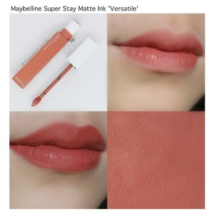 MAYBELLINE SUPER STAY MATTE INK  in VERSATILE . Compared to the first super stay matte ink series, i do think these newer series have better formula. It is not too drying yet has a top notch staying power. . . . #superstaymatteink #maybellinesuperstaymatteink #maybellinesuperstay  @maybelline #clozetteid #beautyblogger #faceoftheday #indobeautygram #lotd #instabeauty #clozzeteid #fotdibb #featuredibb #instamakeup #lipstickoftheday  #motdindo #lipstickswatch #FDbeauty #instablogger #makeupblogger #drugstorebrand #maybellineindonesia