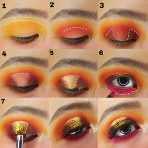 Sunset inspired eyeshadow ☀️🌅   EyeBase @sigmabeauty Persuade Eyeshadow @colourpopcosmetics x Bretmans Lit Glitter @eclatpressedglitter  Falsies @loreca.lashes         #beautygoersid #instamakeup  #makeuptutorial  #beautyenthusiast  #100daymakeupchallenge #makeupfeed #unleashyourinnerartist #creativemakeup  #makeuptutorial @setterspace @tampilcantik  @cchanel_beauty_id @tips_kecantikan  @popbela_com  #makeuplooks #wakeupandmakeup #clozzeteid #sigmabrush #clozetteid #slave2beauty #wake2slay #eyeshadowtutorial  #amrezyshoutouts #undiscovered_muas #inssta_makeup #makeupaddict #featuremuas #morphebabe #beautyunderyourinfluencer
