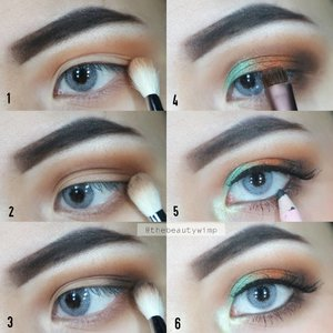 Eye tutorial of my yesterday's look . 1. Apply ur transition shade color on crease and lower lashline 3. Deepend the crease with darker color (im using Mocha from MUG) 2. Apply Mali from juvias masquered on inner third + Cairo on center lid 3. Eyeliner pencil for waterline + mascara for bottom/lower lashes 4. Apply ur fav falsies (optional) & ur done 💕 . EYES @makeupgeekcosmetics Cocoa Bear, Mocha & Corrupt @juviasplace masquerede  @mokomoko Sorbet Green on inner corner @kaycollection Dollywink eyeliner pencil